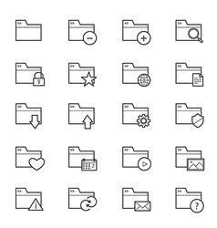 Folder Icons Line vector image