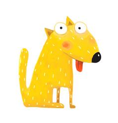 fun cute dog sitting vector image vector image