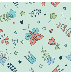 Seamless floral pattern Spring vector image vector image