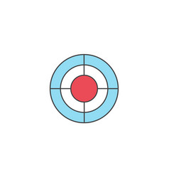 Seo target bullseye symbol successful business vector