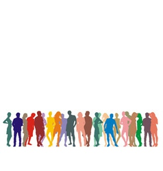 Silhouette people on a white background vector image