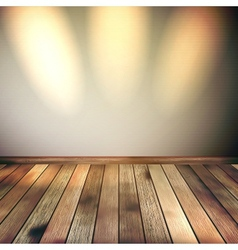 Empty lines wall with 3 spot lights EPS 10 vector image vector image