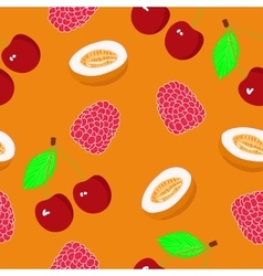 Fruits seamless pattern for your design vector image vector image