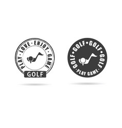 golf icon with grunge rubber set vector image