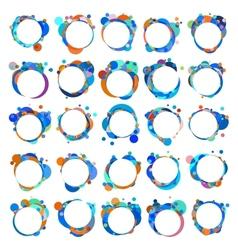 Speech bubbles EPS 8 vector image vector image
