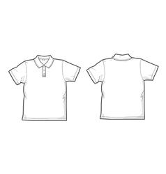 White polo-shirt vector image vector image