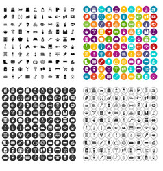 100 housekeeping icons set variant vector