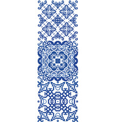 A national ornament in ethnic ceramic tile vector