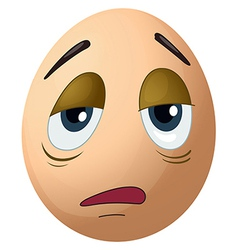 A sad egg vector
