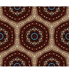 Abstract mosaic vintage ethnic seamless pattern vector image