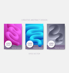 abstract poster design fluid liquid shapes vector image