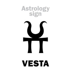 Astrology asteroid vesta vector