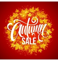Autumn Sale The trend calligraphy Beautiful vector image