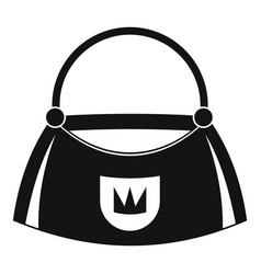 Bag icon simple style vector
