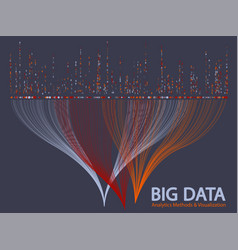 big data visualization concept vector image