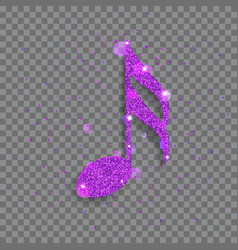 Big shiny note vector