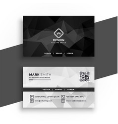 Black and white abstract business card design vector