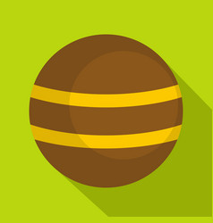 Brown with yellow stripes icon flat style vector
