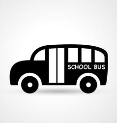 bus icon vector image