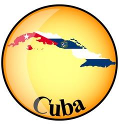 button Cuba vector image