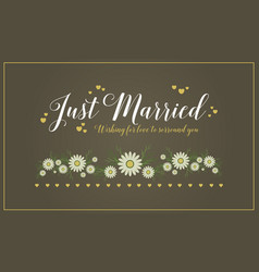 Card wedding romantic style collection vector