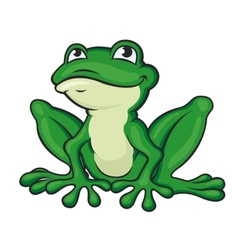 Cartoon green frog vector