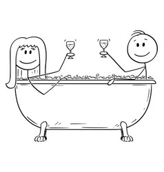 cartoon man and woman relaxing together in vector image