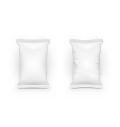 clear white pillow full bag packaging with shadow vector image