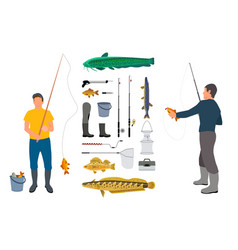 color angler model poster vector image