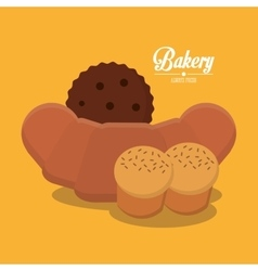 Coockie and bread of bakery design vector