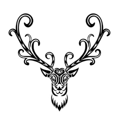 Creative art icon stylized deer vector image
