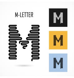 Creative m - letter icon abstract logo design vector