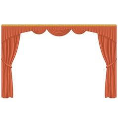 Curtain isolated vector