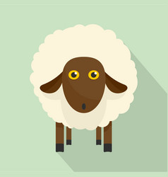 cute sheep icon flat style vector image
