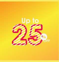 Discount up to 25 off label sale line logo vector