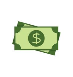 dollar banknote flat icon vector image