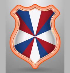 Dutch flag the prinsengeus with orange stroke vector