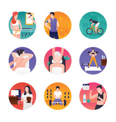 fitness and spa pack vector image