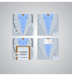Flat icons for doctor vector