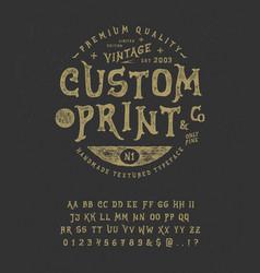 Font custom print vector