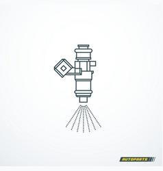 fuel injector icon vector image