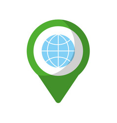 globe social media round pointer we vector image