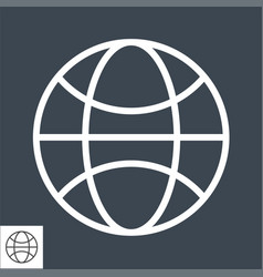 globe thin line icon vector image