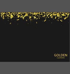 golden confetti background vector image