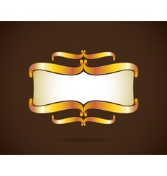Golden frame vector image