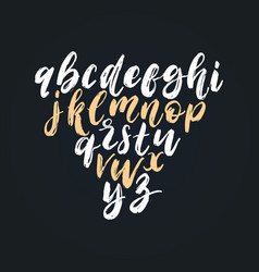hand lettering alphabetfont of dry brush vector image