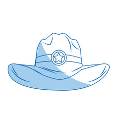 Hat cowboy icon weatern accessory character vector