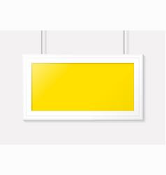 horizontal poster frame template design vector image