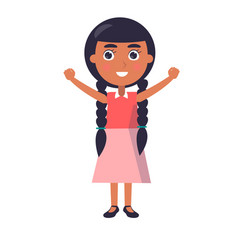 Indian smiling girl wishes happy childrens day vector