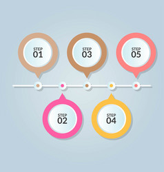 infographic template of five step or workflow vector image
